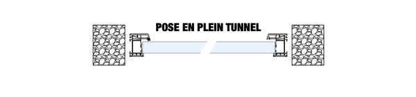Pose d'une fenêtre en tunnel